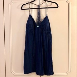 Victoria's Secret navy lace detail night gown